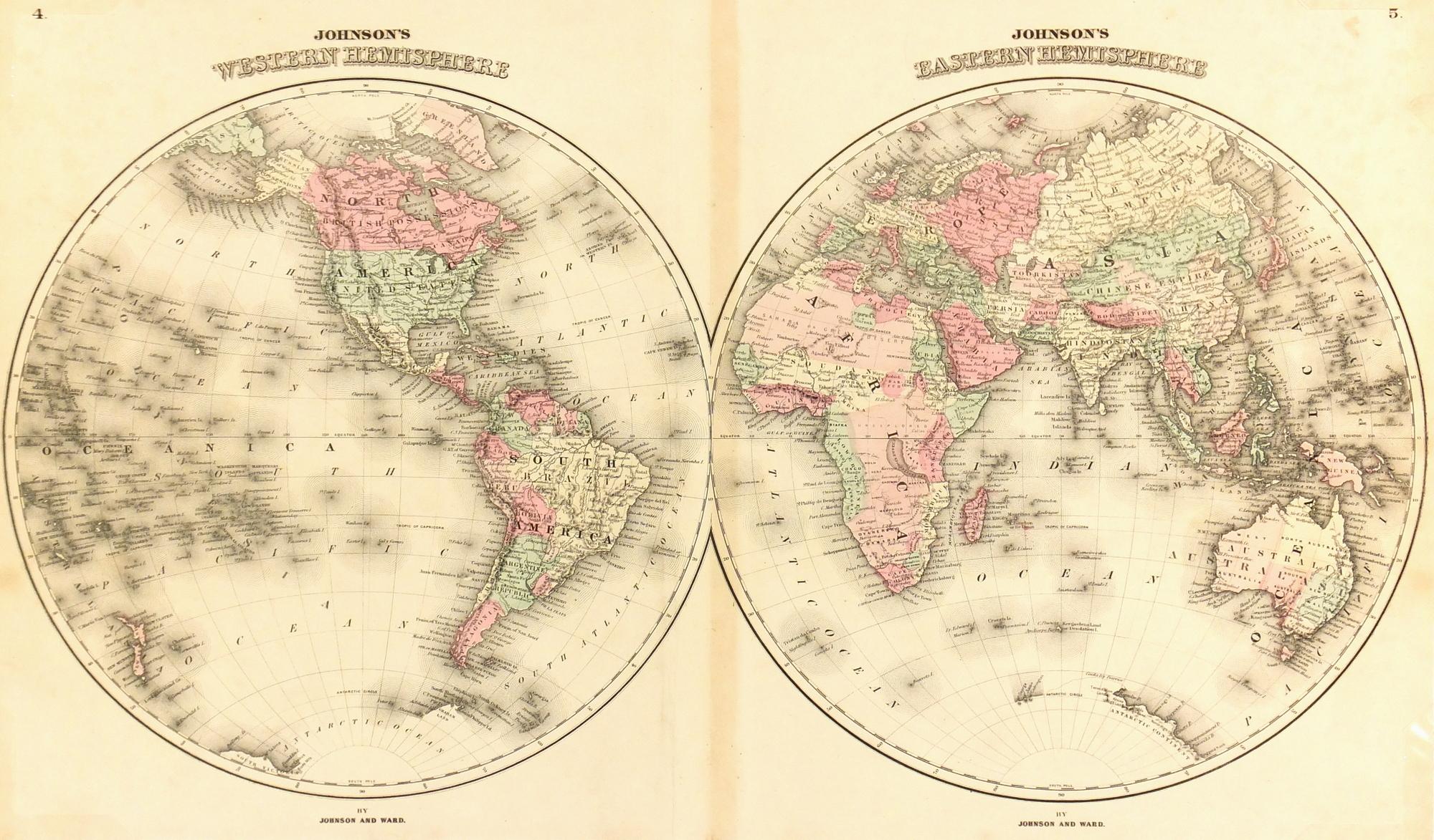 Map- World, 1866-main-7603K