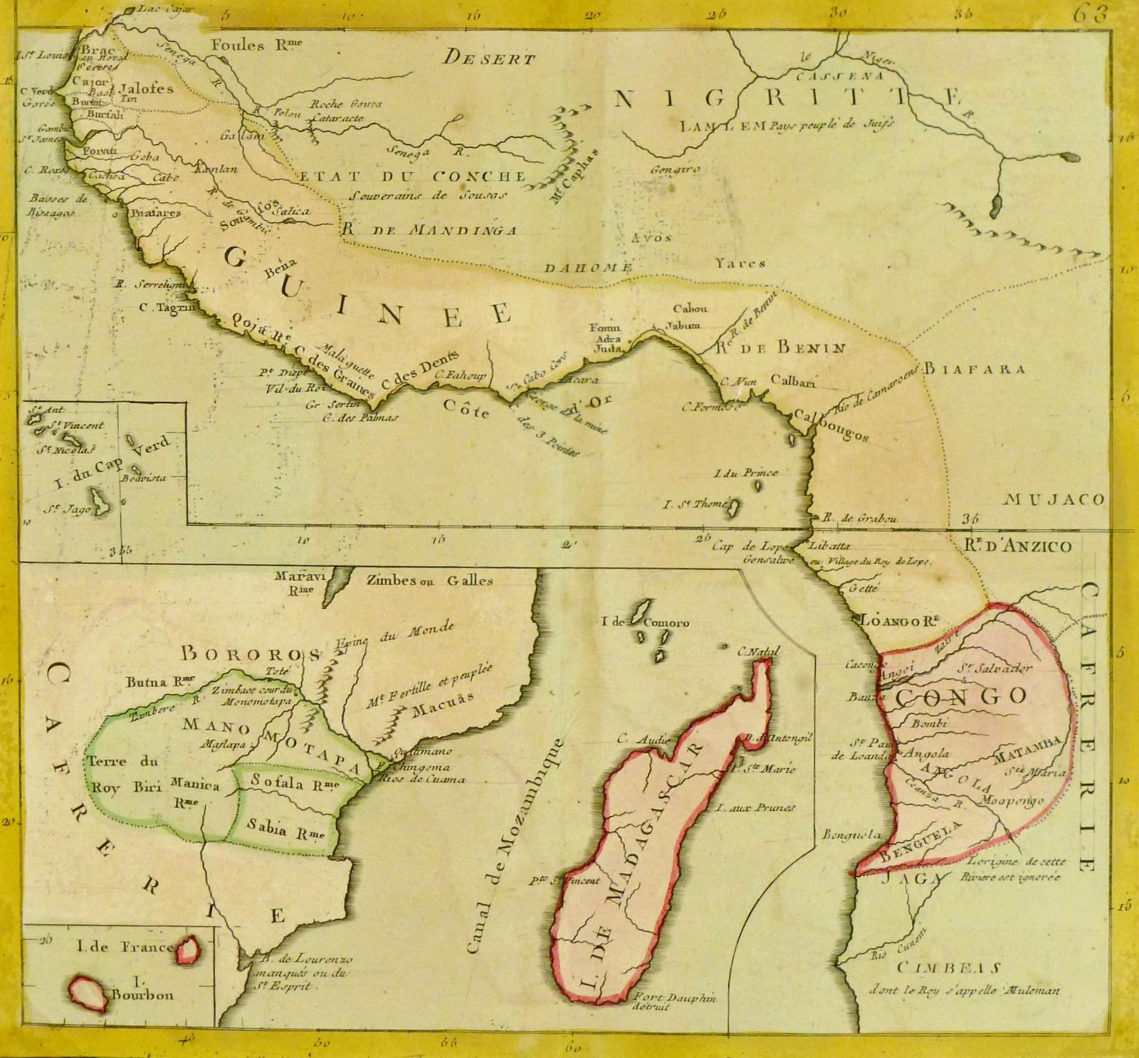 Map - Africa, 1767-main-8121K