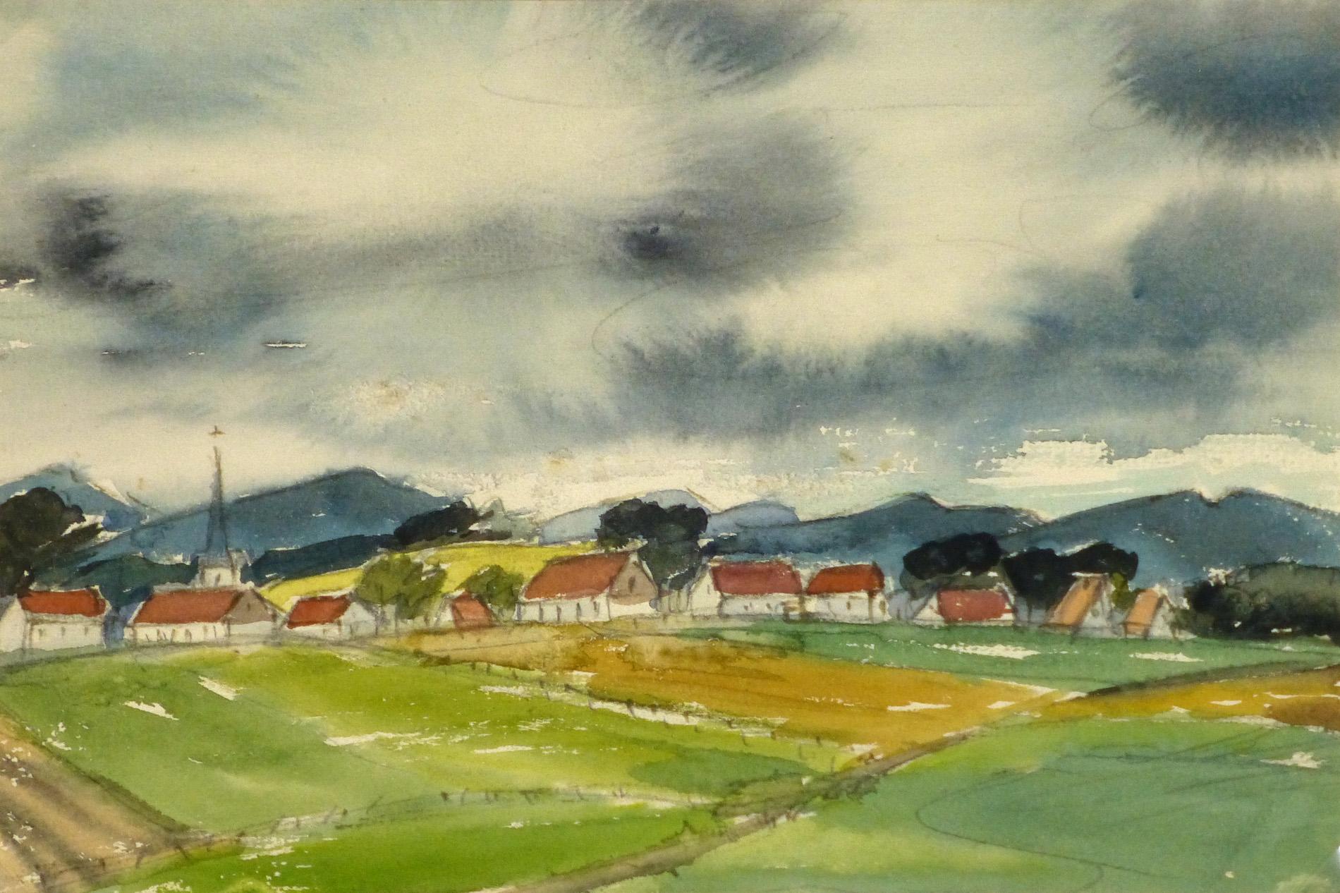 Watercolor Landscape - Harz Valley-main-8598K