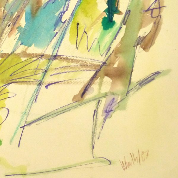 Marine Abstract Watercolor-detail 2-9137K