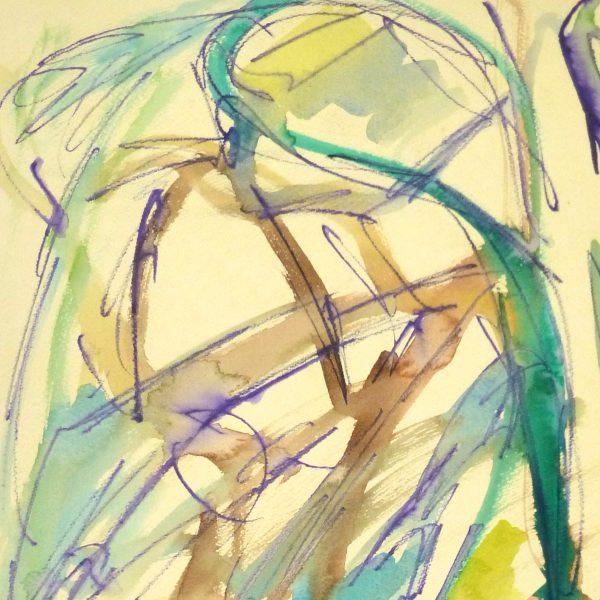 Marine Abstract Watercolor-detail-9137K