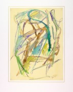 Marine Abstract Watercolor-matted-9137K