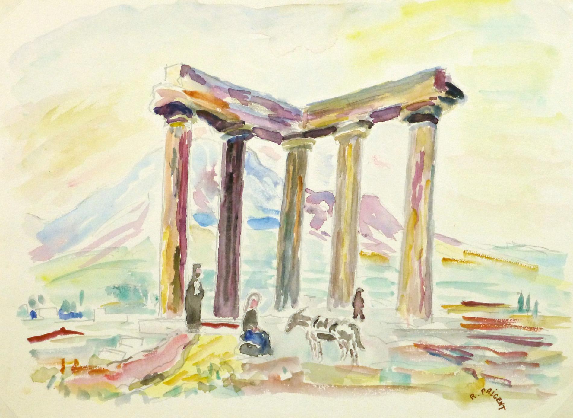 Watercolor Landscape - Temple of Apollo-main-9167K