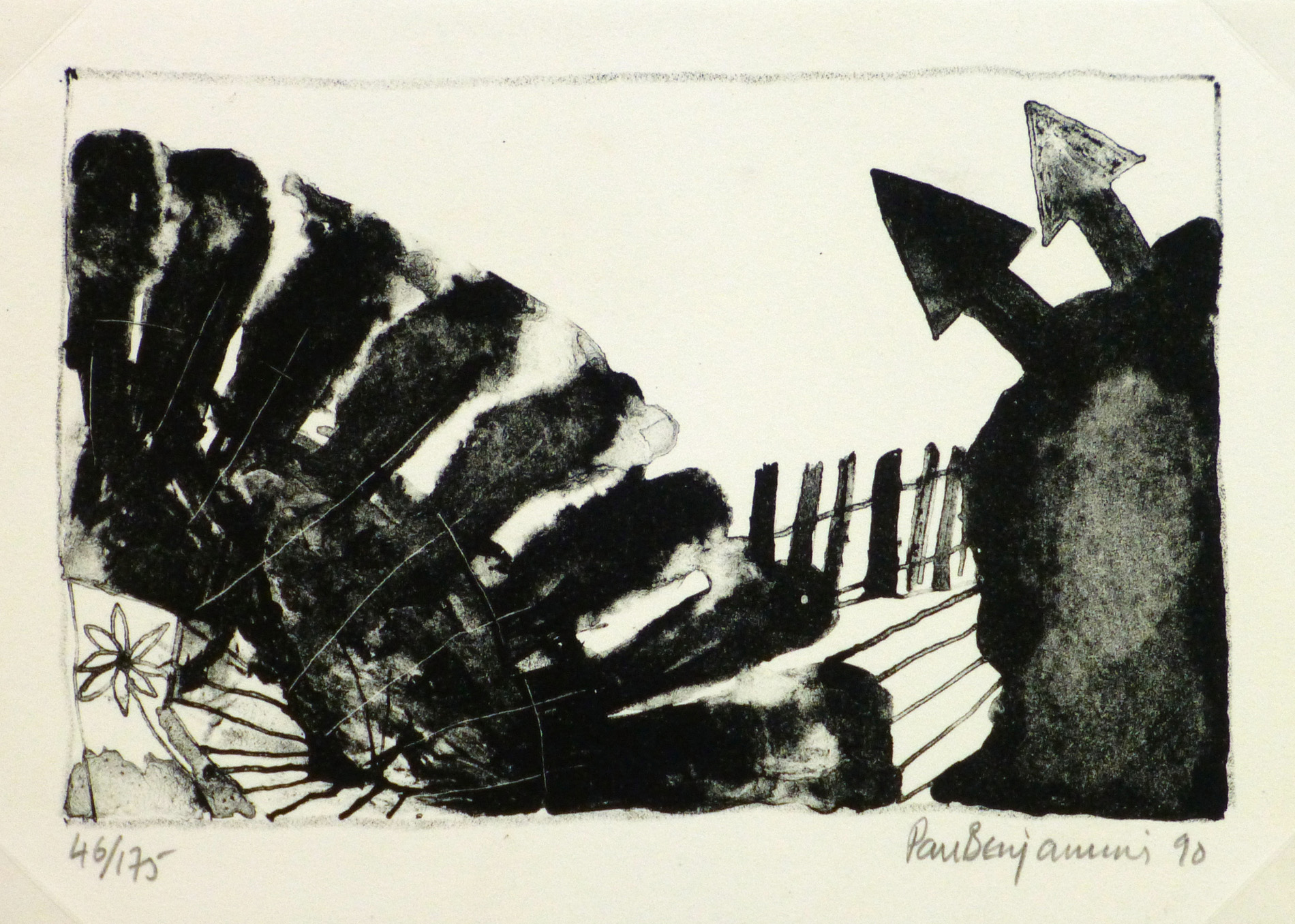 Arrows Abstract Lithograph-main-9289K