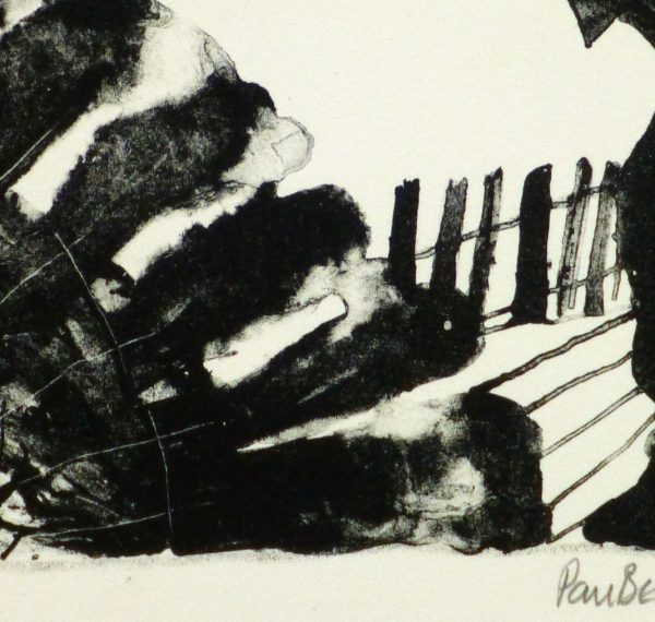 Arrows Abstract Lithograph-detail-9289K