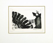 Arrows Abstract Lithograph-matted-9289K
