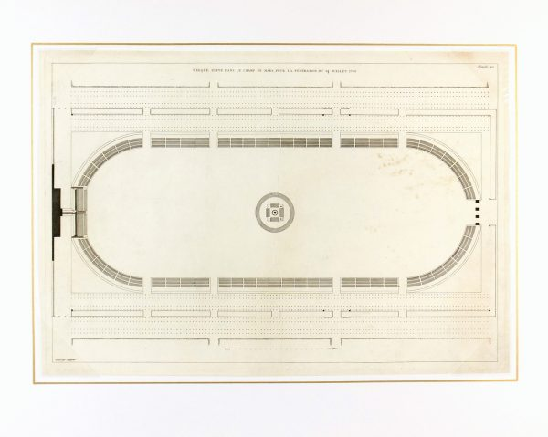 Antiquities Stadium Engraving-matted-K3534