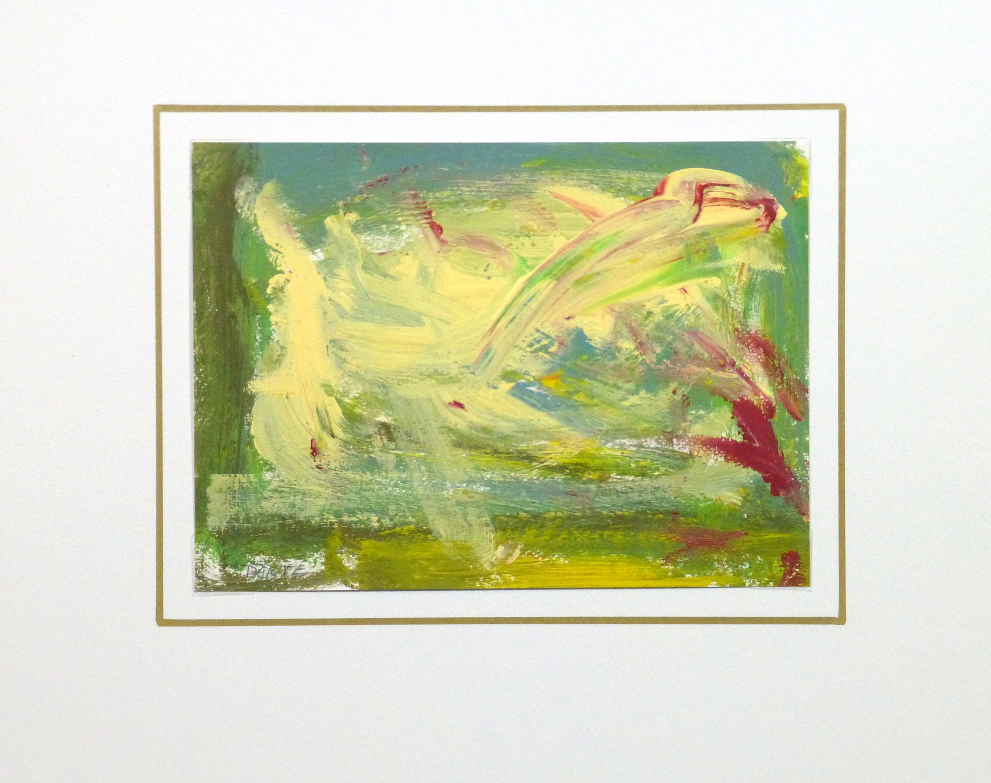 Introspective Abstract, circa 1999-matted-10089K