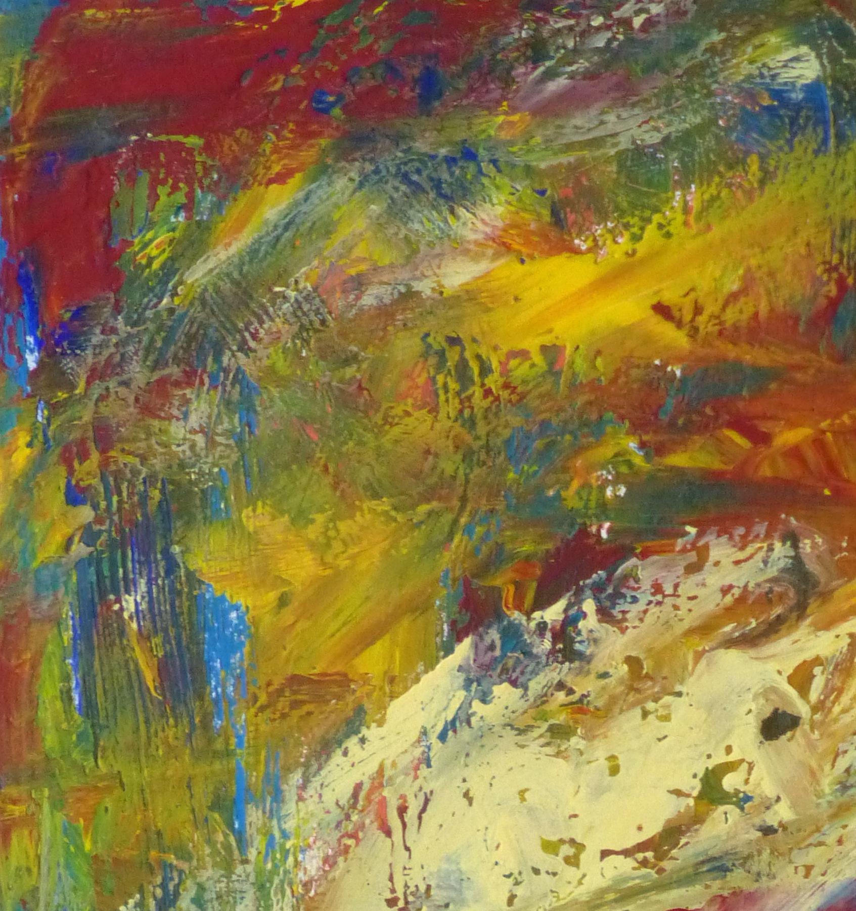 Acrylic - Sans Peur Abstract-detail 2-10090K