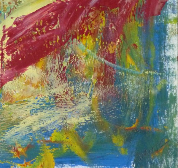 Acrylic - Sans Peur Abstract-detail-10090K