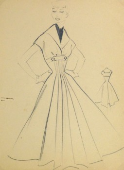 Pencil Fashion Sketch- Hendlin Casual Dress, 1957-main-10356M