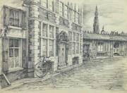 Pencil Drawing - Antwerp, circa 1950-main-10362M