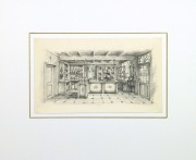 Pencil Drawing - General Store, circa 1950-matted-10366M