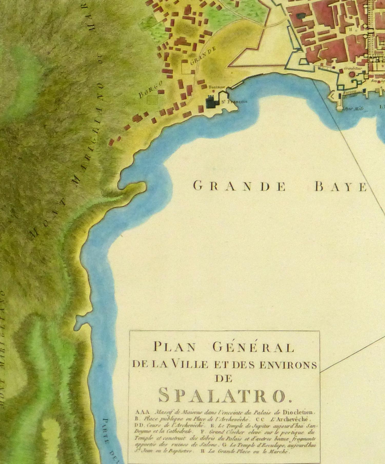 Plan of Split Engraving, 1802-detail 2 -10368M