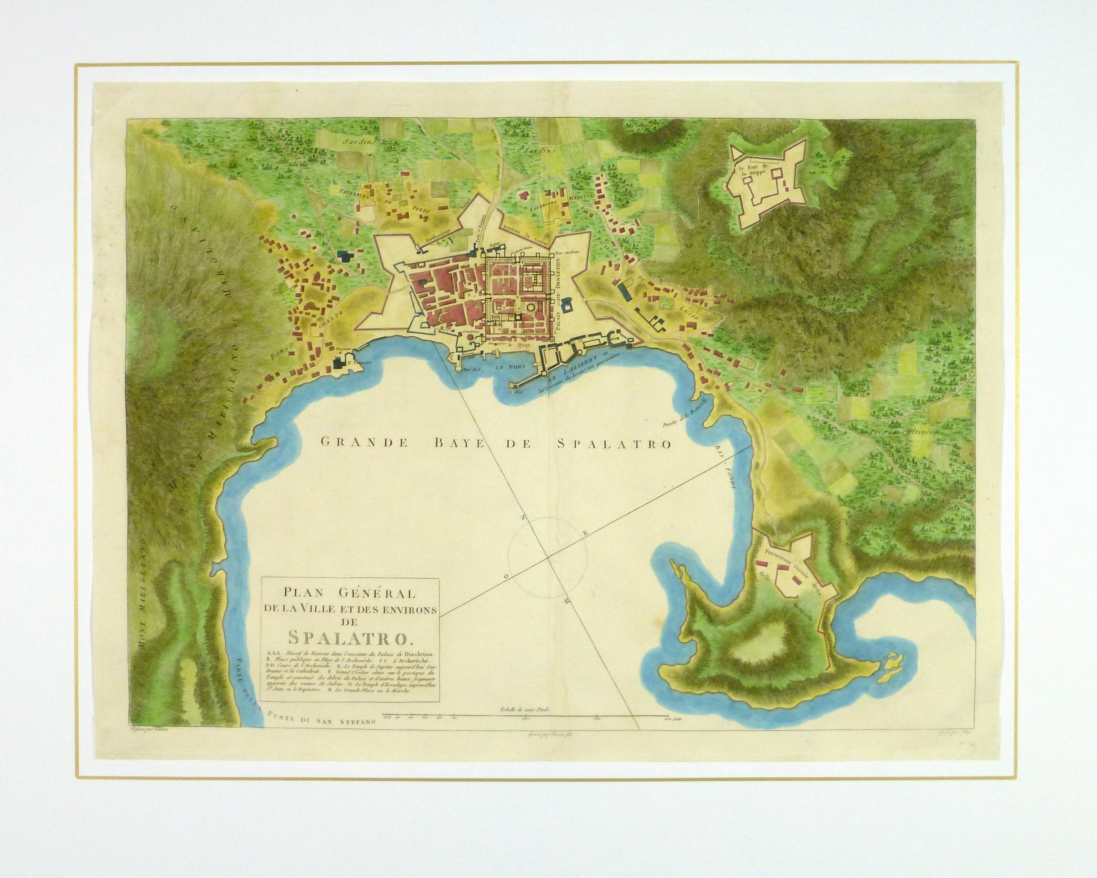 Plan of Split Engraving, 1802-matted-10368M