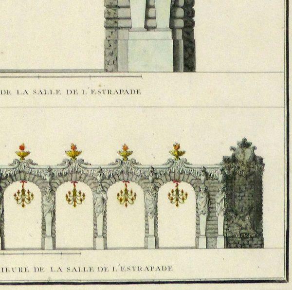 Paris City Decor Engraving, 1745-detail-10370M