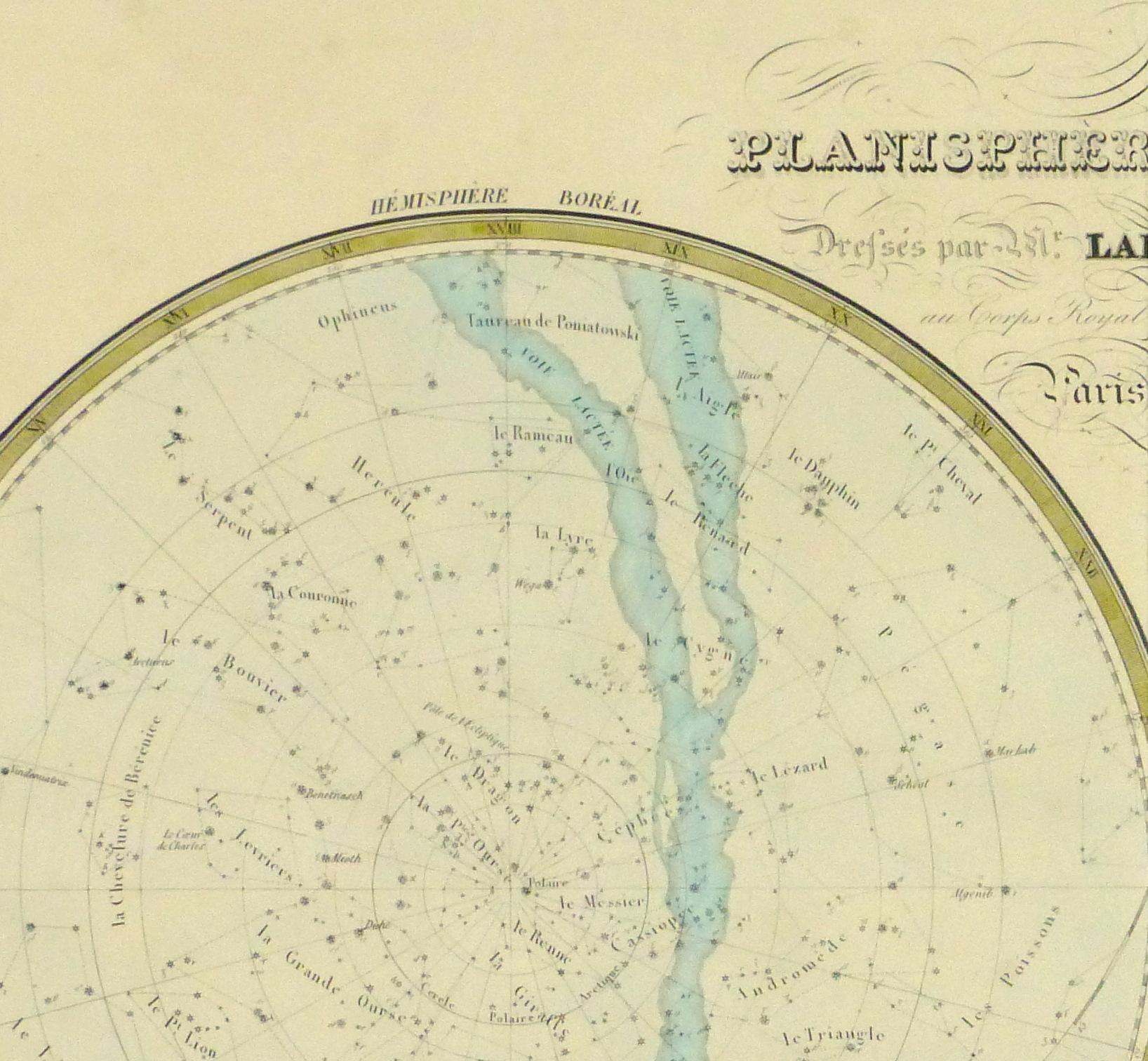 Celestial Planispheres Engraving, 1838-detail 2-10371M