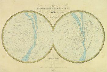 Celestial Planispheres Engraving, 1838-main-10371M