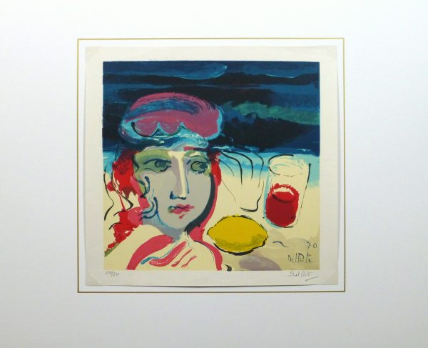 Lithograph - Beach Beauty, 1970-matted-10388M