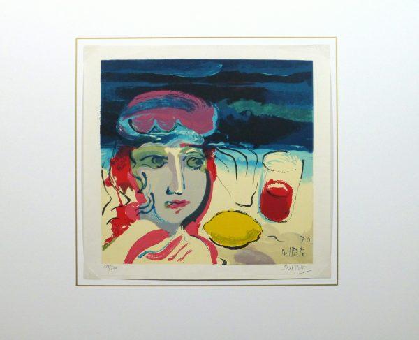 Lithograph - Beach Beauty, 1970-matted-10388M