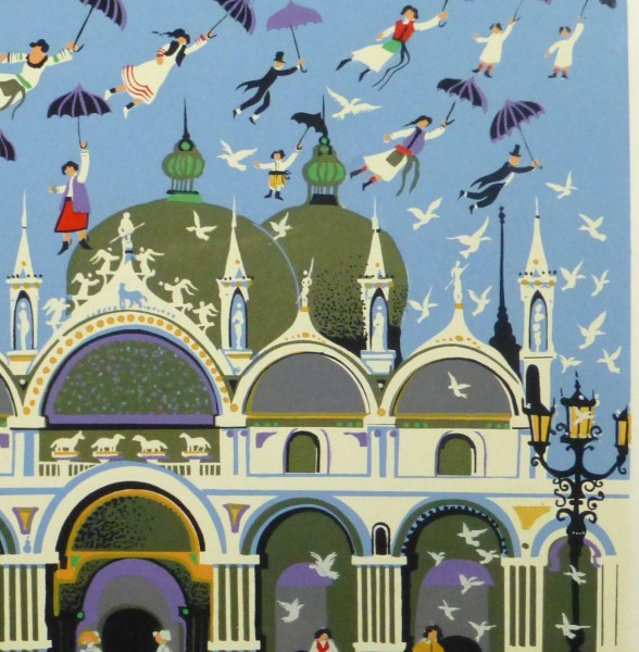 Lithograph - Venice Fantasy, Circa 1970-detail-10389M