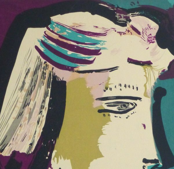Abstract Portrait Lithograph, 1968-detail 2-10390M