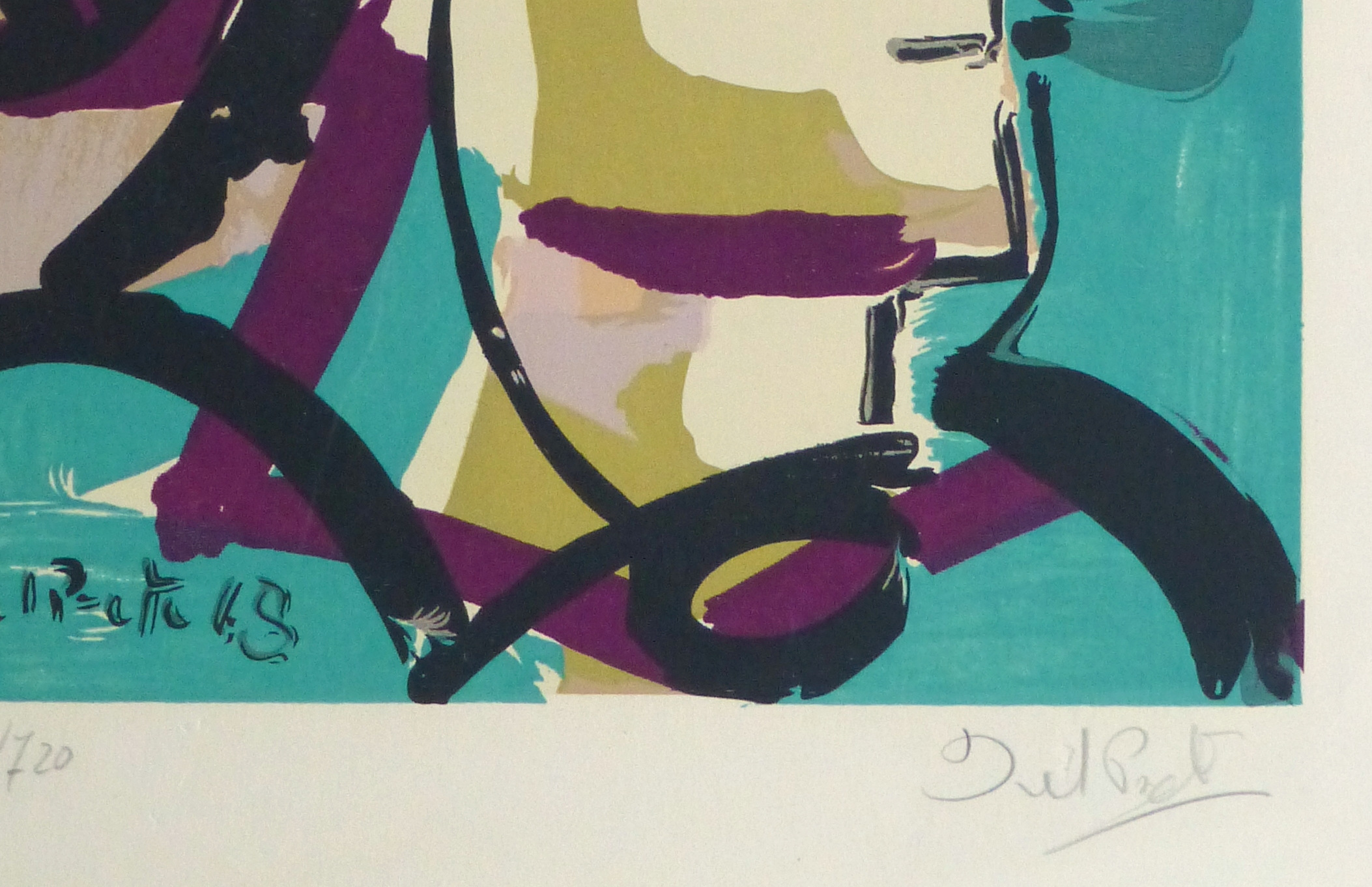 Abstract Portrait Lithograph, 1968-detail-10390M