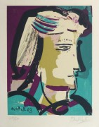 Abstract Portrait Lithograph, 1968-main-10390M
