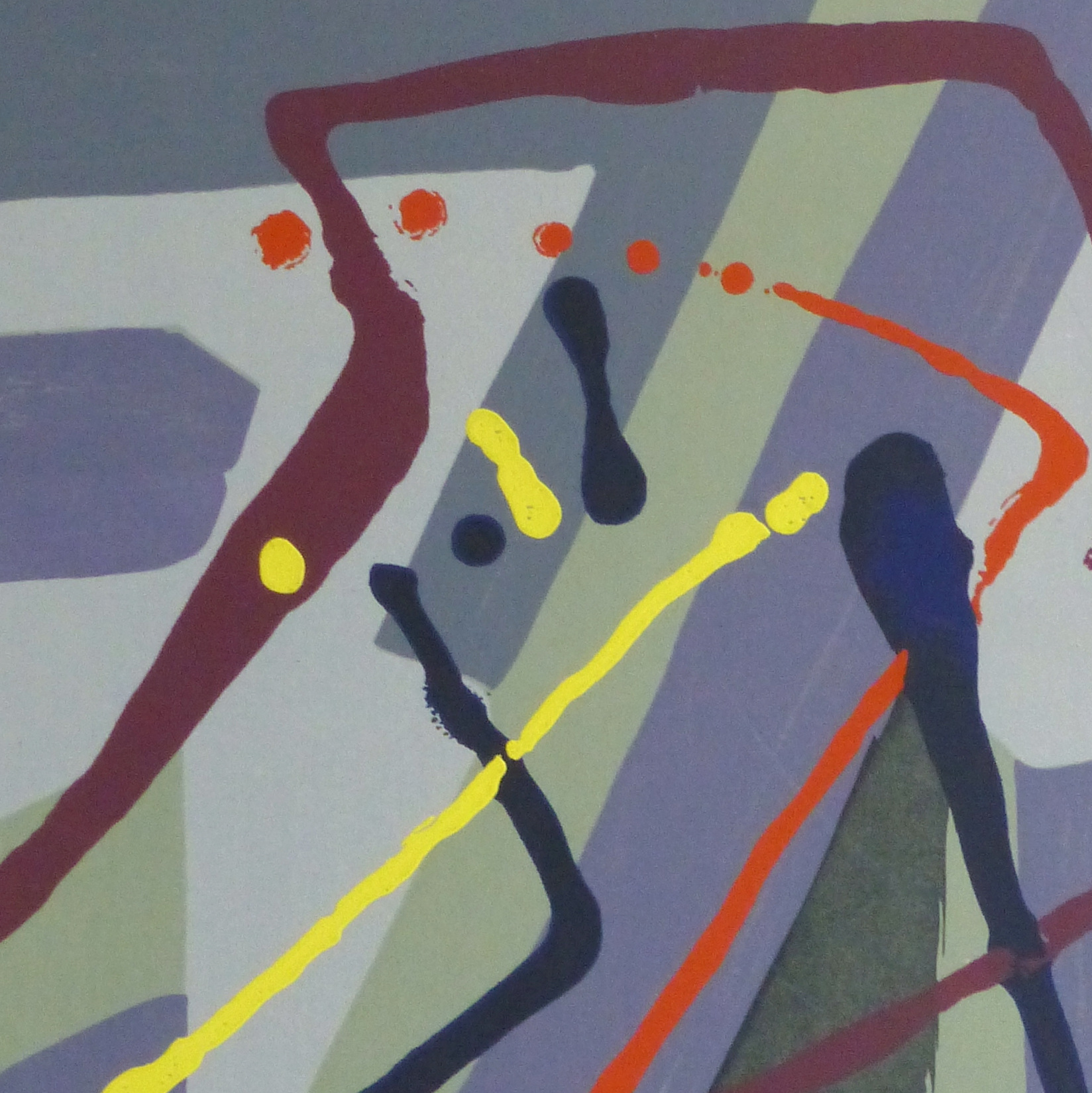 Abstract Lithograph, Circa 1970-detail 2-10391M