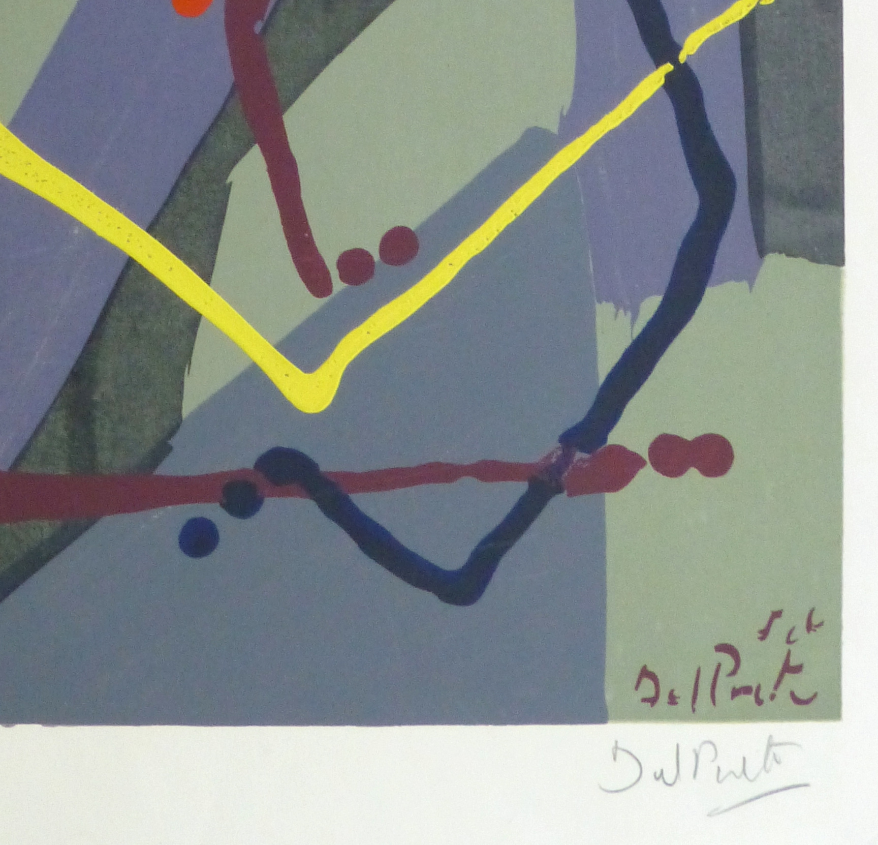 Abstract Lithograph, Circa 1970-detail-10391M