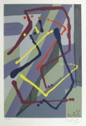 Abstract Lithograph, Circa 1970-main-10391M