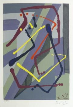 Abstract Lithograph, Circa 1970-main-10391M