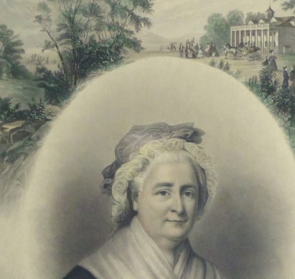 Martha Washington Print, 1870-detail 2-10394M