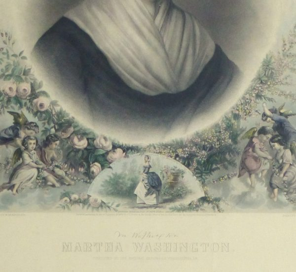 Martha Washington Print, 1870-detail-10394M