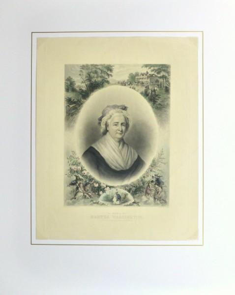 Martha Washington Print, 1870-matted-10394M