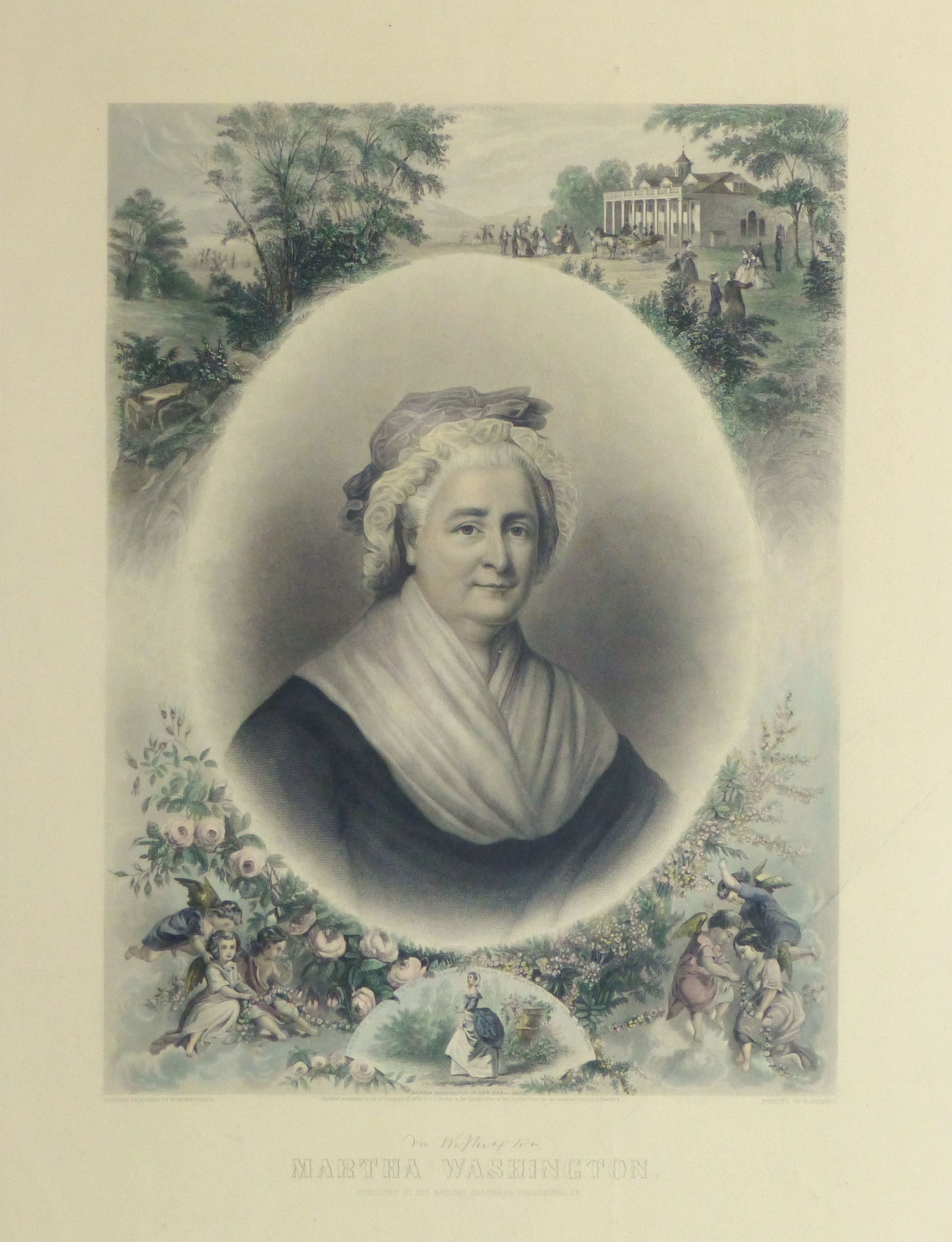 Martha Washington Print, 1870-main-10394M