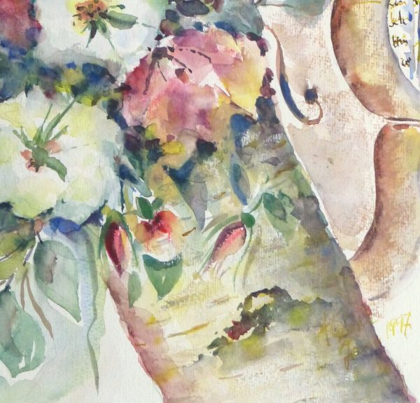 Watercolor Still Life - Musical Blooms, 1997-detail-10395M
