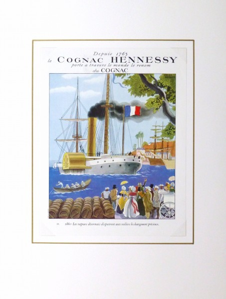 Hennessy Cognac Print, Circa 1920-matted-10402M