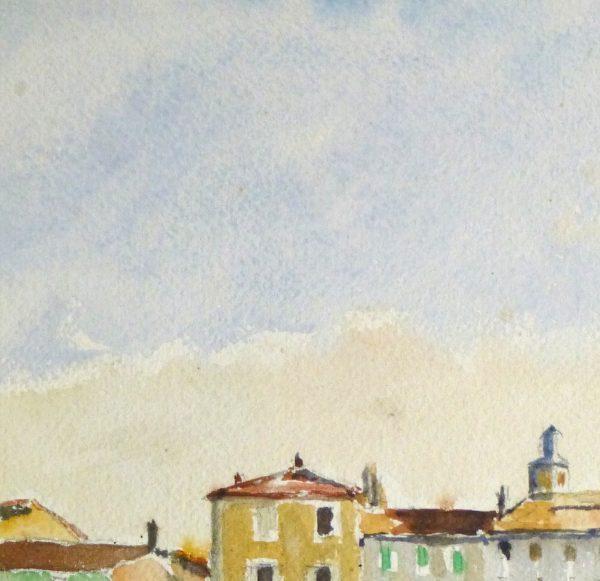 Bright Habor Watercolor, Circa 1940-detail 2-10430M