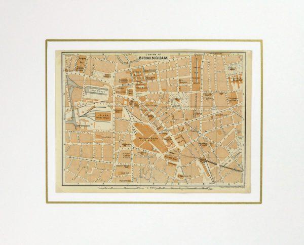 Birmingham England Map, 1924-matted-5414K