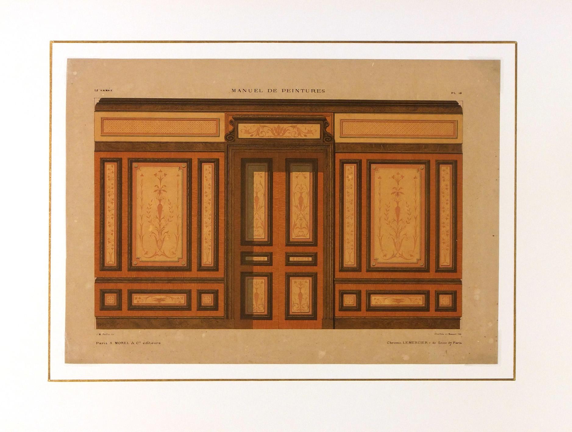 Paris Interior Print, Circa 1880-matted-5677K