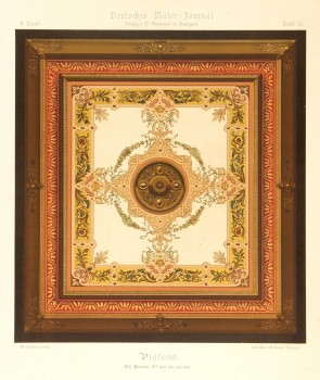 Decorative Ceiling Print, Circa 1880-main-5685K