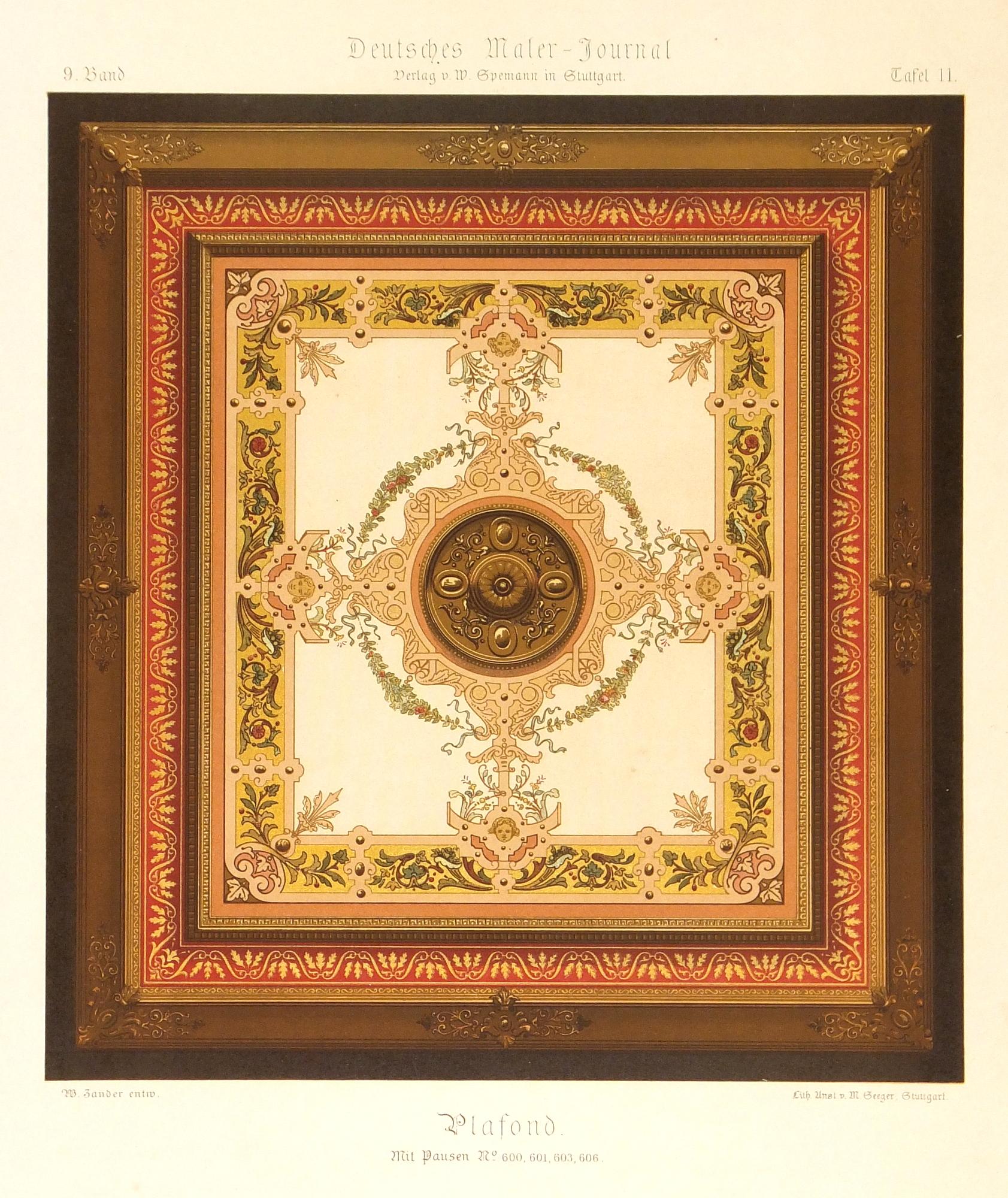Decorative Ceiling Print, Circa 1880-main-5685K