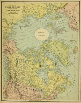 Polar Regions Map, Circa 1885-main-5759K