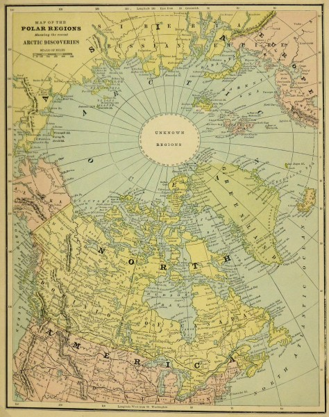 Polar Regions Map, Circa 1885-main-5759K
