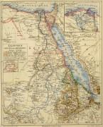 Egypt, Sudan & Ethiopia Map, Circa 1880-main-5791K