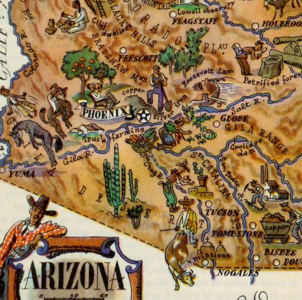 Pictorial Map - Arizona, 1946-detail-5895K