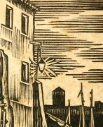 Port Woodblock, 1930-detail-6139K