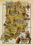 Pictorial Map - Indiana, 1946-main-6231K