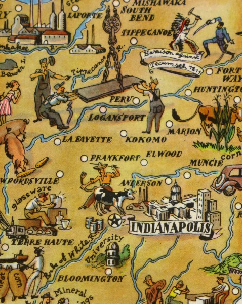 Pictorial Map - Indiana, 1946-detail-6231K